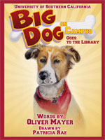 Big Dog on Campus Goes To The Library